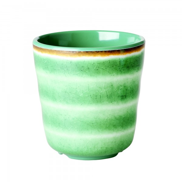 RICE Melamin Becher SWIRL Green