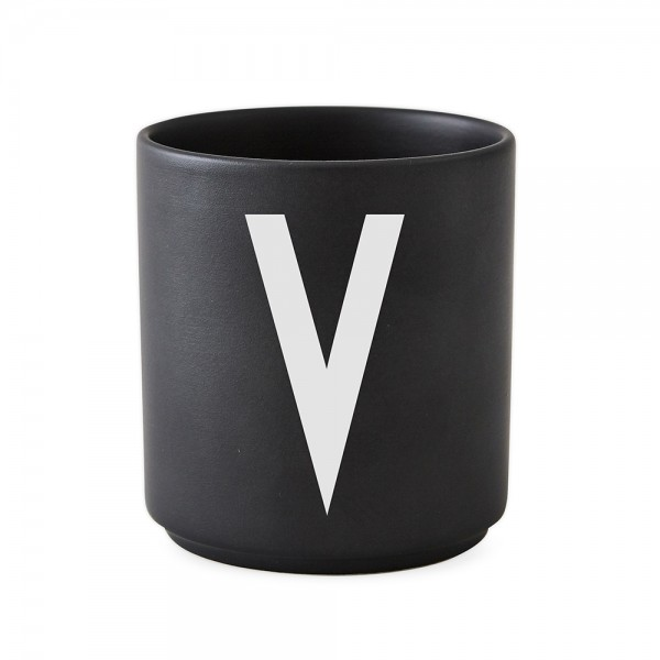 Design Letters Porzellanbecher schwarz V