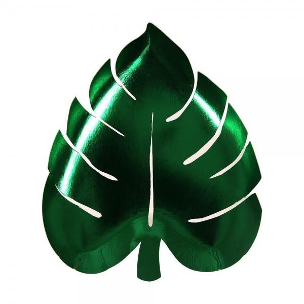 Meri Meri Palmenblatt Pappteller grün