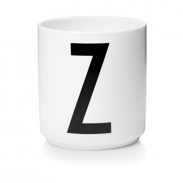 Design Letters Porzellanbecher weiß Z