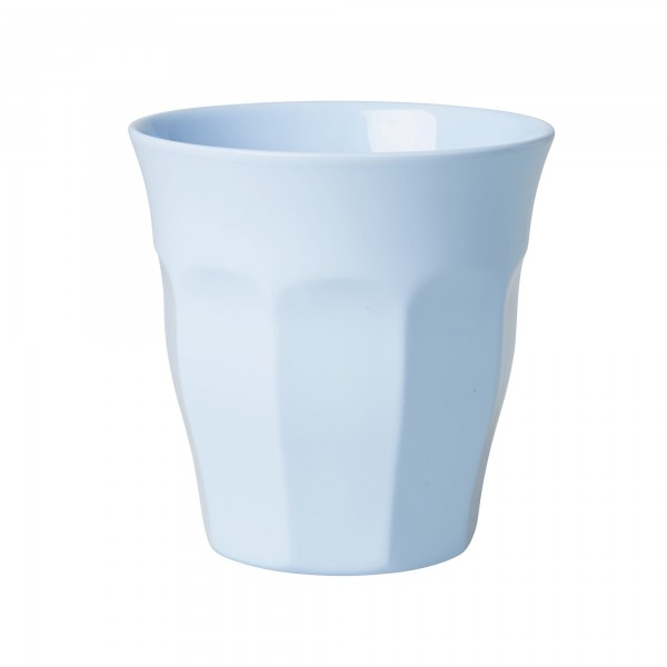 RICE Melamin Becher SOFT BLUE Medium