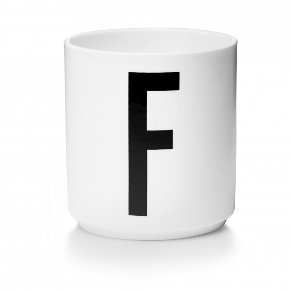 Design Letters Porzellanbecher weiß F
