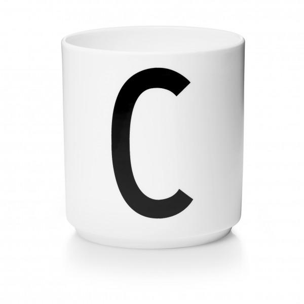 Design Letters Porzellanbecher weiß C