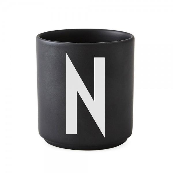 Design Letters Porzellanbecher schwarz N