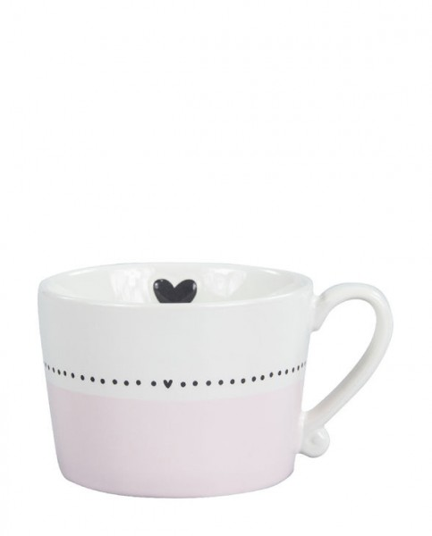 Bastion Collections Tasse rose LINE DOTS & HEART