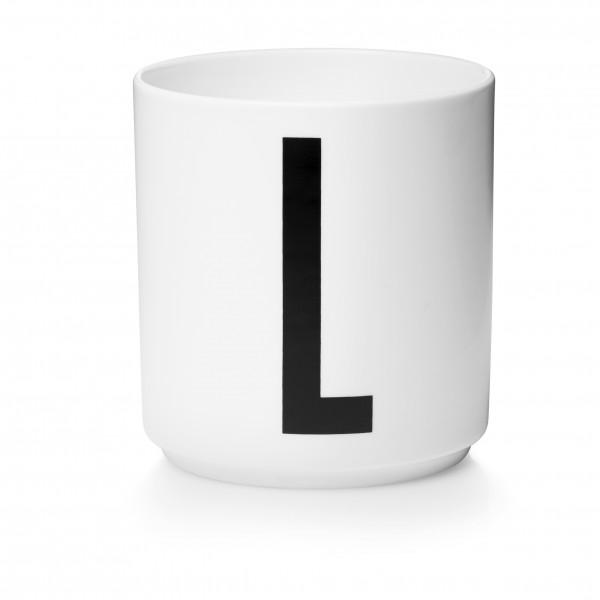 Design Letters Porzellanbecher weiß L