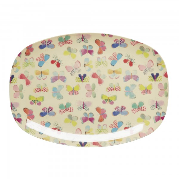 RICE Melamin Platte BUTTERFLY Rectangular