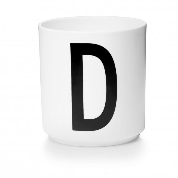 Design Letters Porzellanbecher weiß D