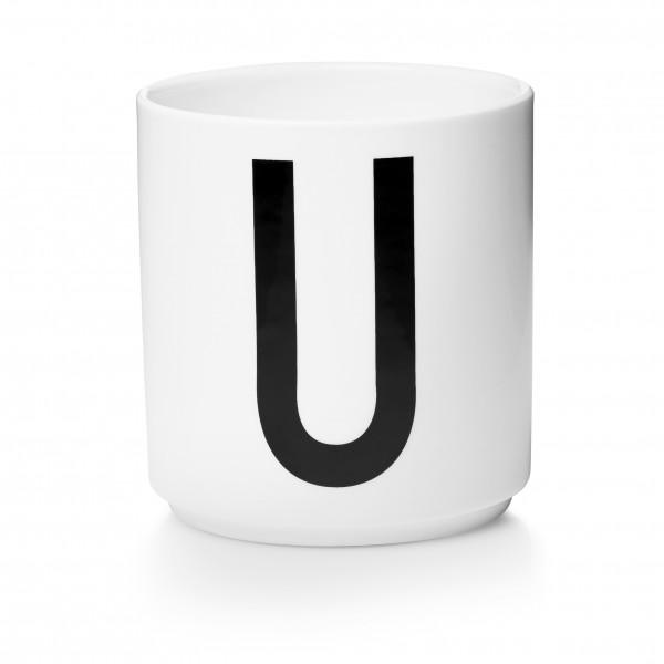 Design Letters Porzellanbecher weiß U