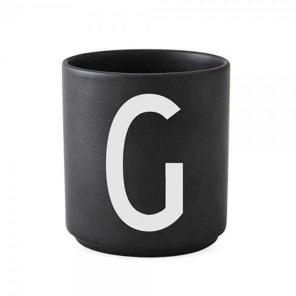 Design Letters Porzellanbecher schwarz G