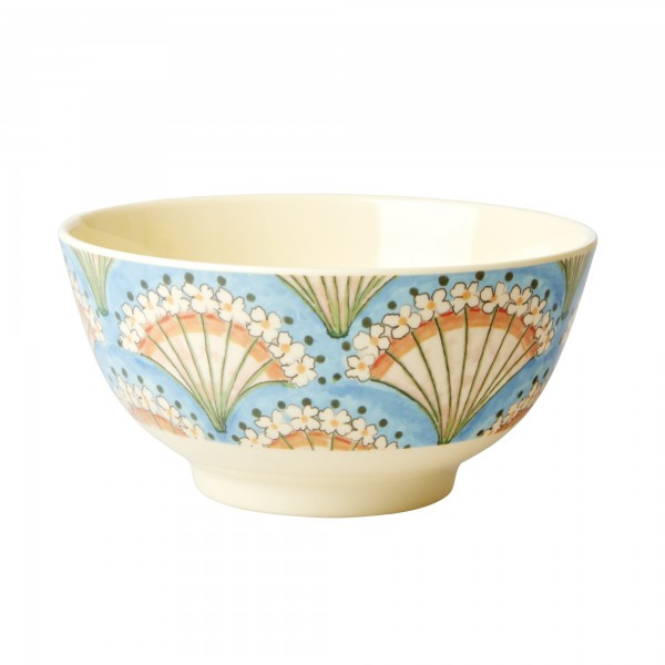 RICE Melamin Schale FLOWER FAN Medium