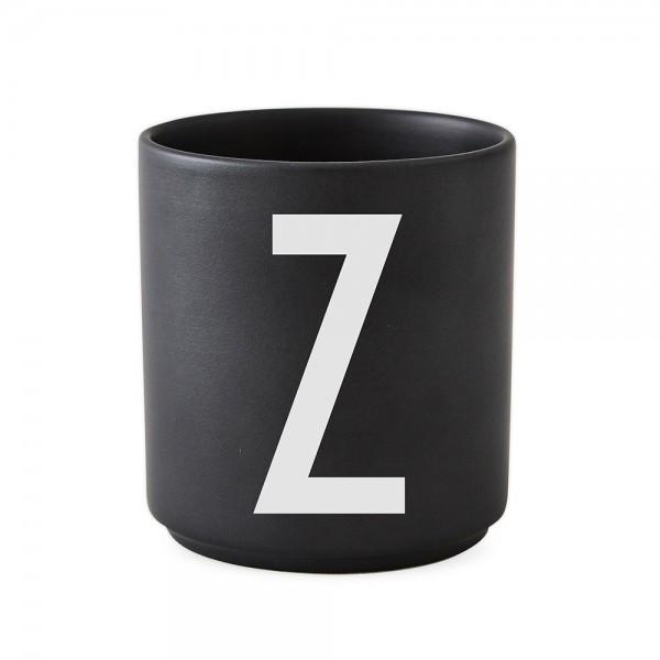 Design Letters Porzellanbecher schwarz Z