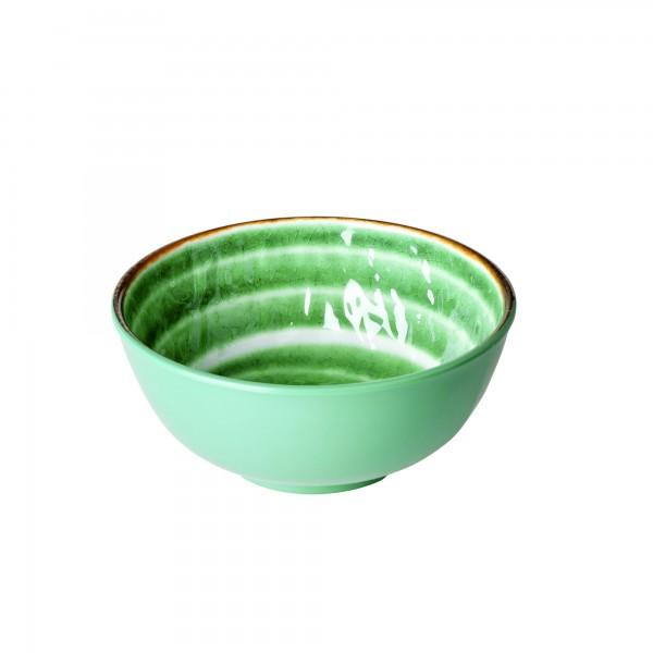 RICE Melamin Schüssel SWIRL Green