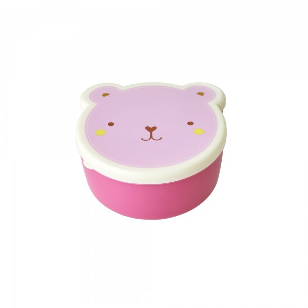 RICE Lunchbox ANIMAL FACE PRINT 4-teilig Pink