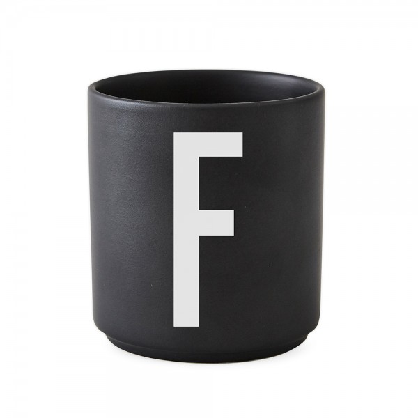 Design Letters Porzellanbecher schwarz F