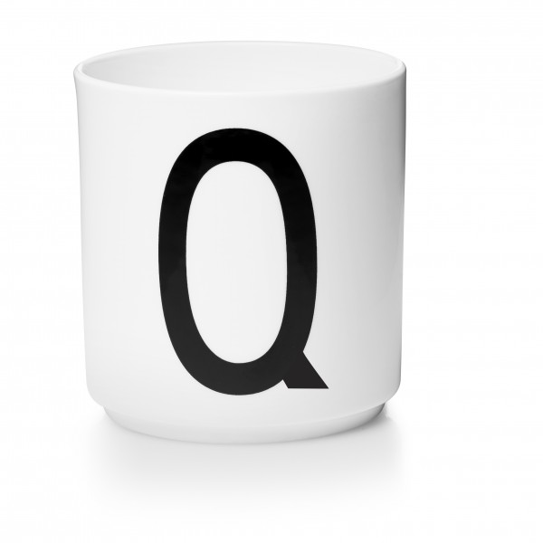 Design Letters Porzellanbecher weiß Q