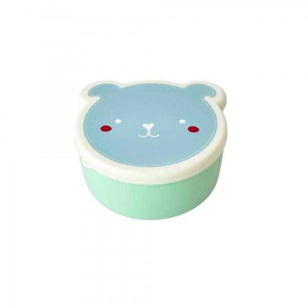 RICE Lunchbox ANIMAL FACE PRINT 4-teilig Grün