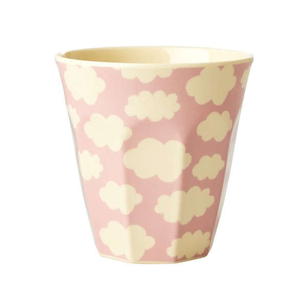 RICE Melamin Becher CLOUD PRINT Pink Medium