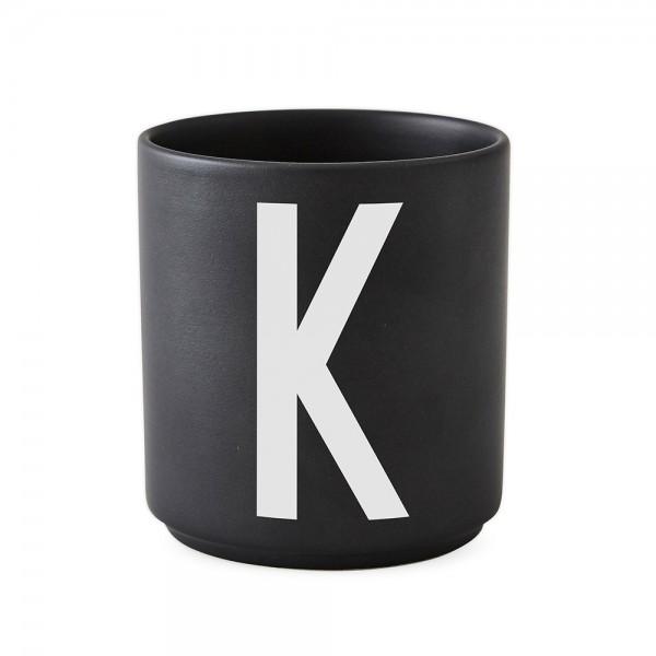 Design Letters Porzellanbecher schwarz K