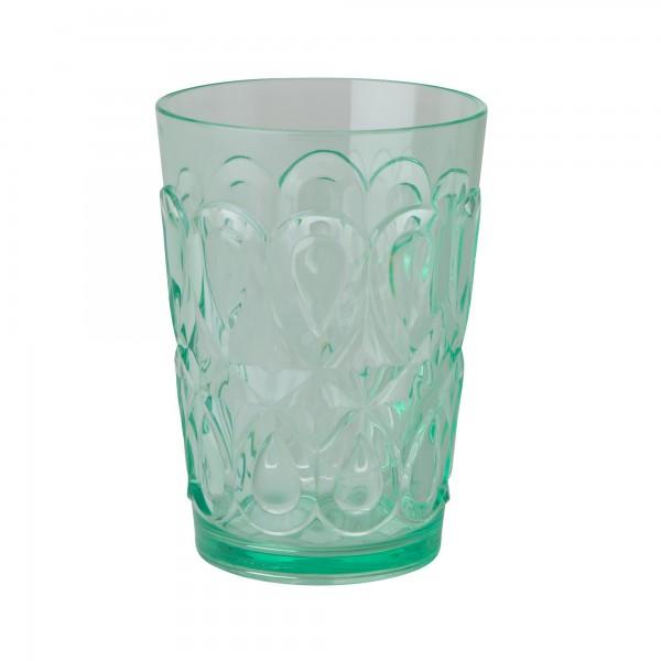 RICE Acryl Trinkglas PASTEL GREEN