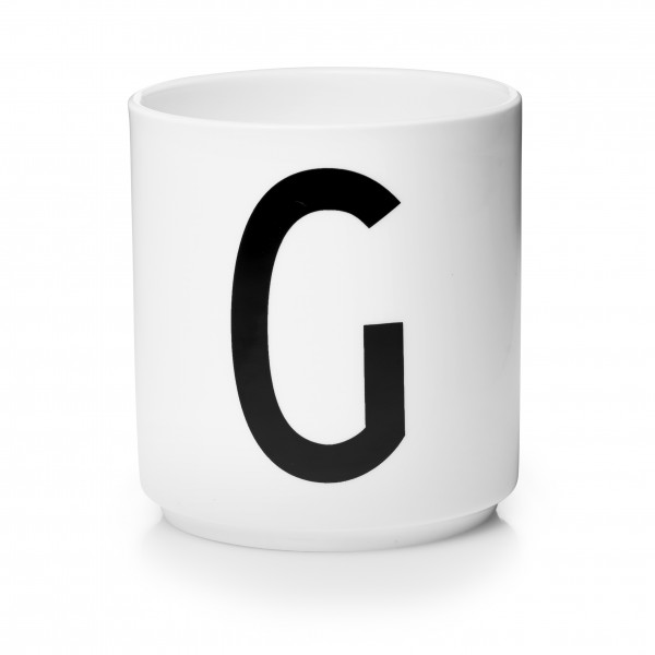 Design Letters Porzellanbecher weiß G