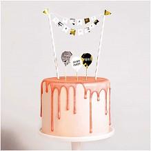 Rico Design Caketopper Set Happy Birthday Classic