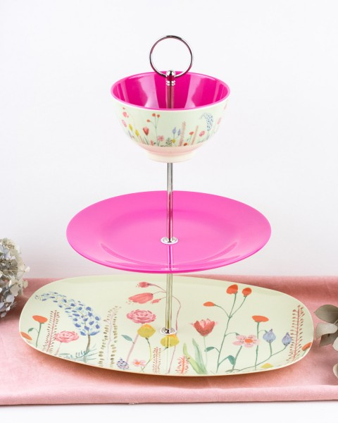 RICE Etagere SUMMER FLOWERS Small