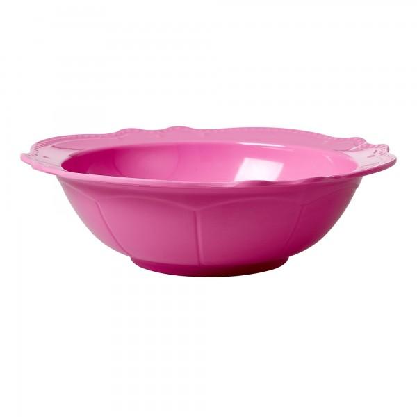 RICE Melamin Salatschüssel Pink