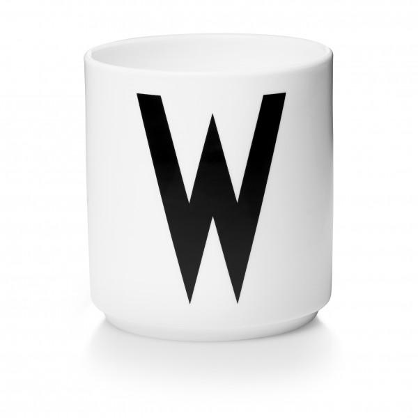 Design Letters Porzellanbecher weiß W
