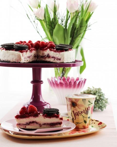 No-Bake-Oreo-Torte-mit-Himbeeren