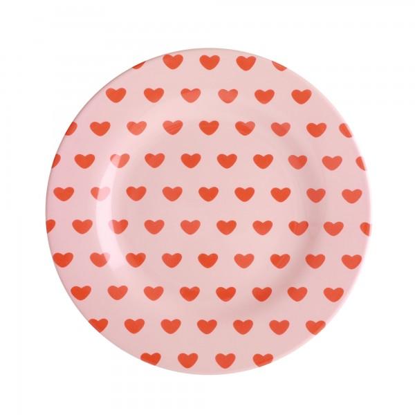 RICE Melamin Teller SWEET HEARTS