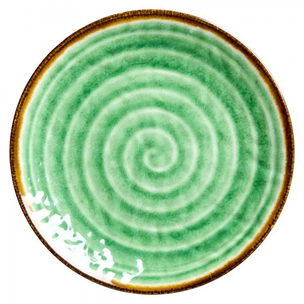 RICE Melamin Teller SWIRL Green
