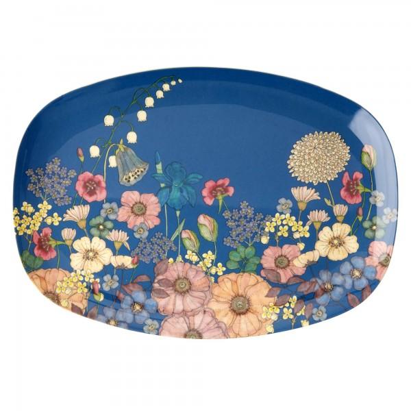 RICE Melamin Platte FLOWER COLLAGE Rectangular