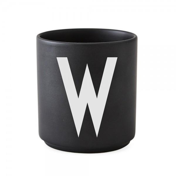 Design Letters Porzellanbecher schwarz W