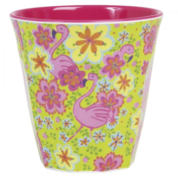 RICE Melamin Becher FLAMINGO Medium