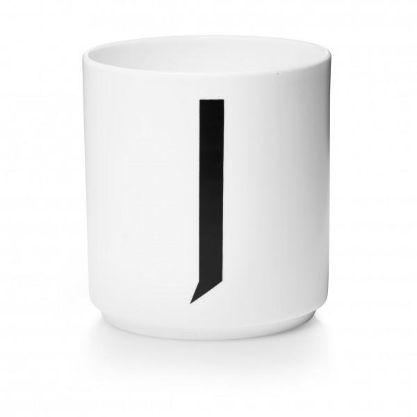 Design Letters Porzellanbecher weiß J