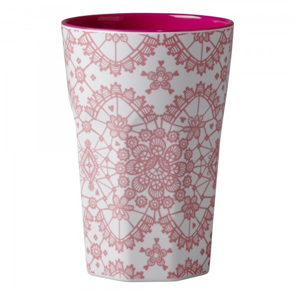 RICE Melamin Becher CORAL LACE Tall