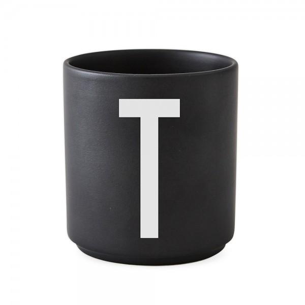 Design Letters Porzellanbecher schwarz T