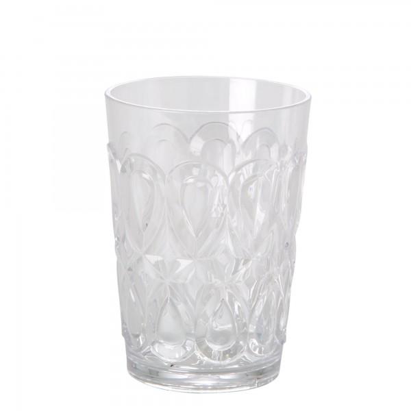 RICE Acryl Trinkglas CLEAR