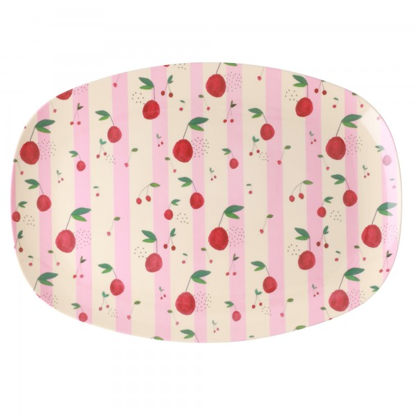 RICE Melamin Platte CHERRY Rectangular