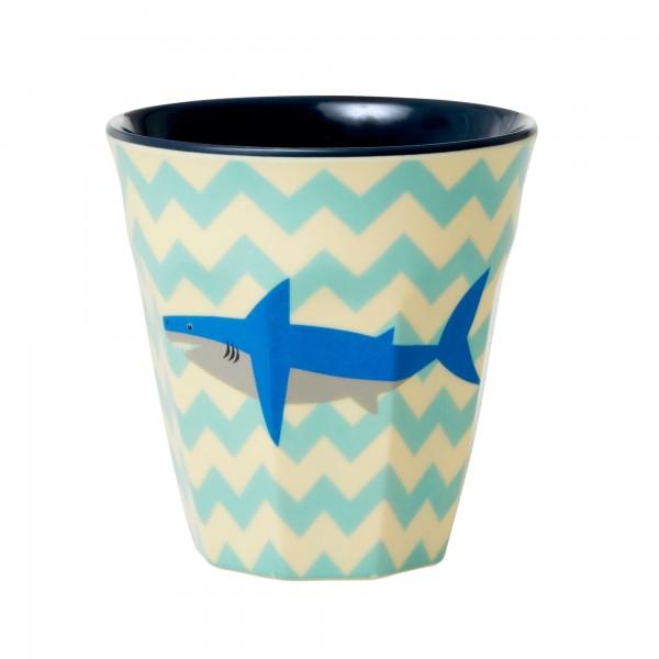RICE Melamin Becher SHARK Medium