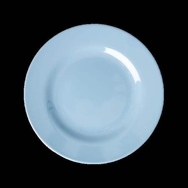 RICE Melamin Teller HAPPY 21ST Blue Round