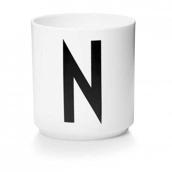 Design Letters Porzellanbecher weiß N
