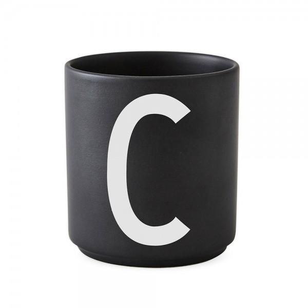 Design Letters Porzellanbecher schwarz C
