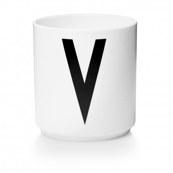 Design Letters Porzellanbecher weiß V