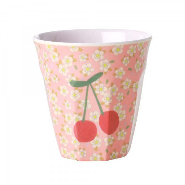 RICE Melamin Becher SMALL FLOWERS & CHERRY Medium