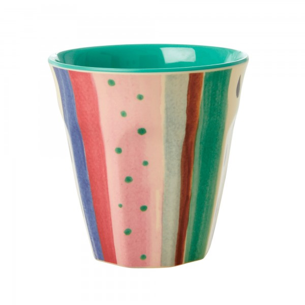 RICE Melamin Becher LOUISE´S STRIPE Medium