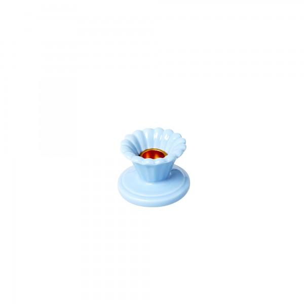 RICE Keramik Kerzenhalter hellblau