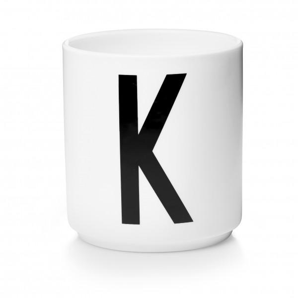 Design Letters Porzellanbecher weiß K