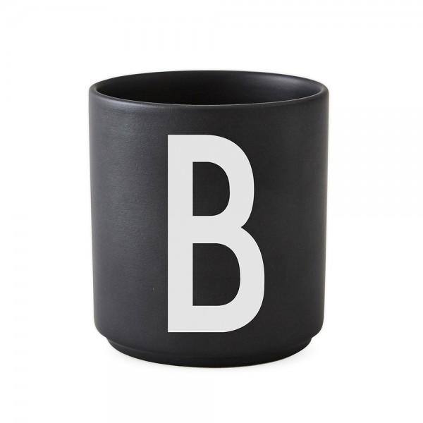 Design Letters Porzellanbecher schwarz B
